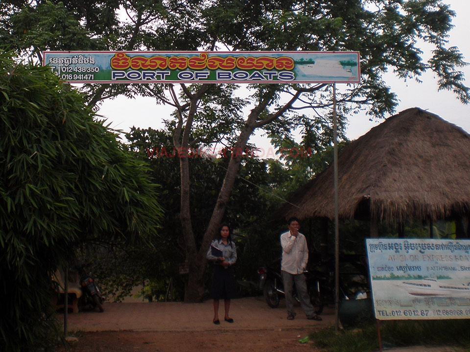 El muelle de Battambang en Camboya.