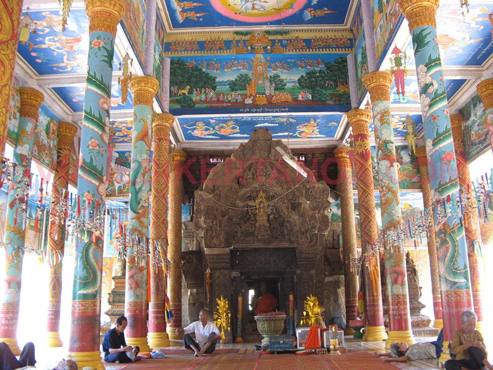 Templos de Nokor Bachey en Kampong Cham en Camboya