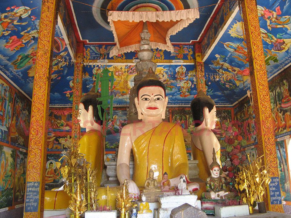 Templos de Nokor Bachey en Kampong Cham en Camboya.