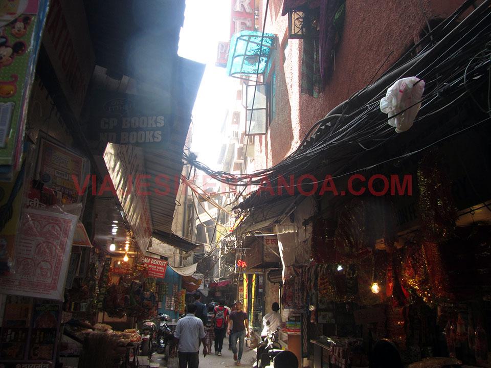 El Bazaar de Nueva Delhi, India.