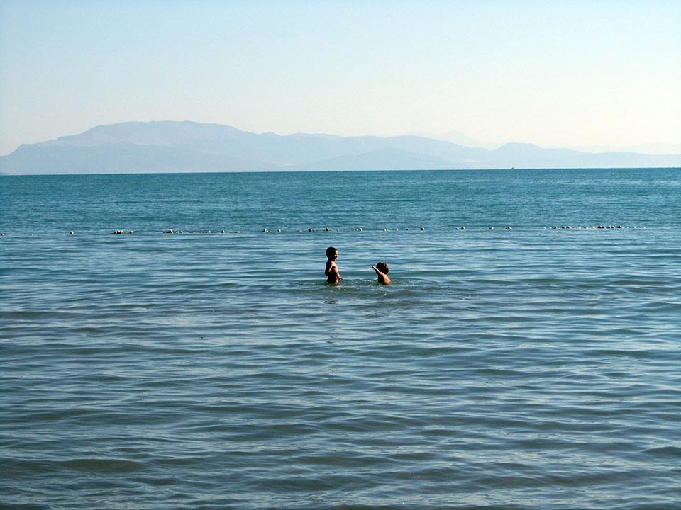 Último baño en Egirdir, Turquía.