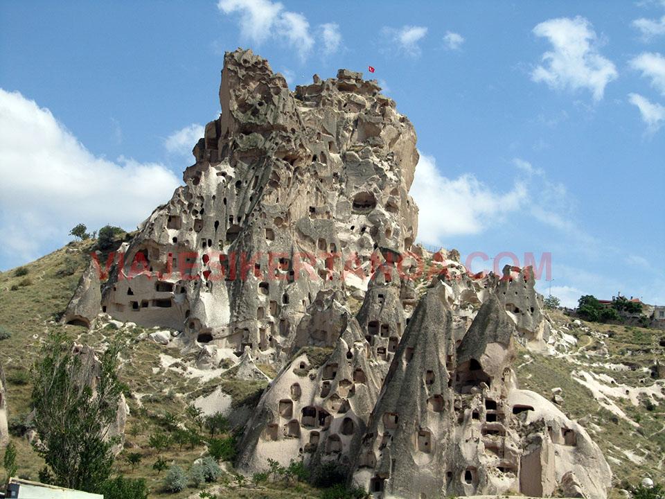 Casas típicas en la Capadocia, Turquía