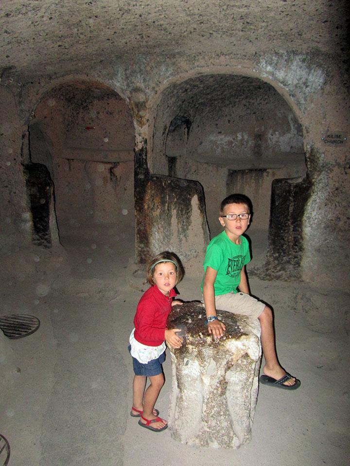 Ciudad subterranea Kaymakli en Turquía.