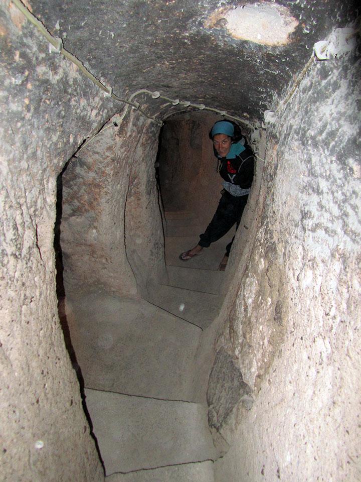 Ciudad subterranea Kaymakli en Turquía