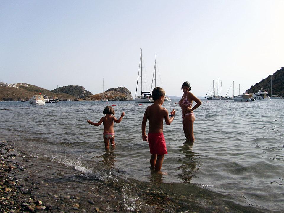 Gümüslük en la península de Bodrum, Turquía