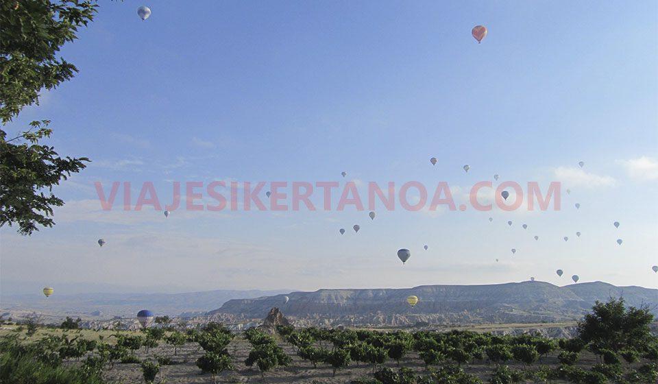 Globos aerostáticos en la Capadocia, Turquía.