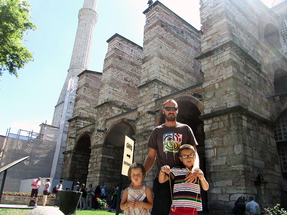 La entrada a Santa Sofía en Estambul, Turquía.