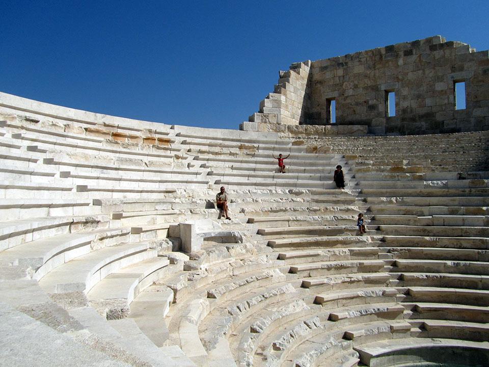La escalinata del teatro de Patara en Turquía.