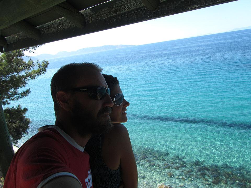 La isla griega de Samos al fondo en el parque nacional de Dilek en Turquía