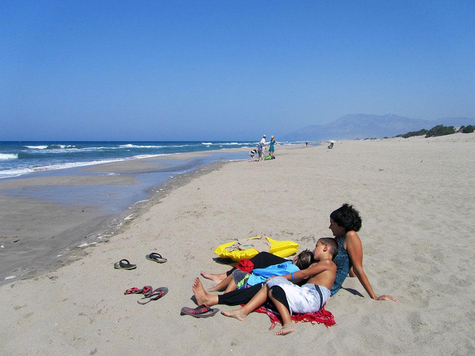 La playa de Patara en Turquía.