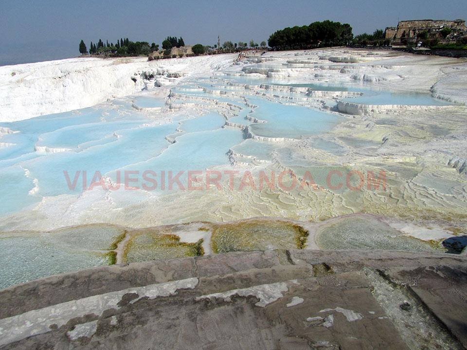 Las terrazas de Pamukkale en Turquía