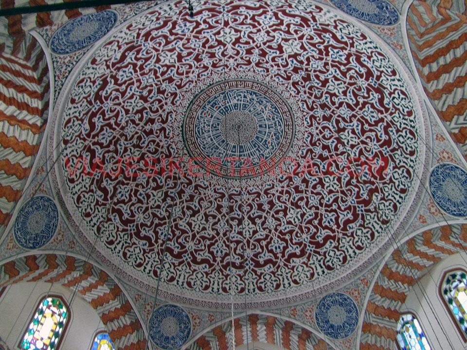 Ornamentos de las tumbas de Santa Sofia en Estambul, Turquía