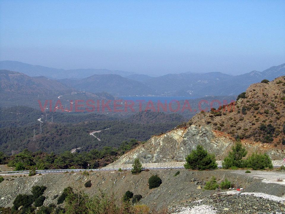 Paisaje de la península de Datca en Turquía