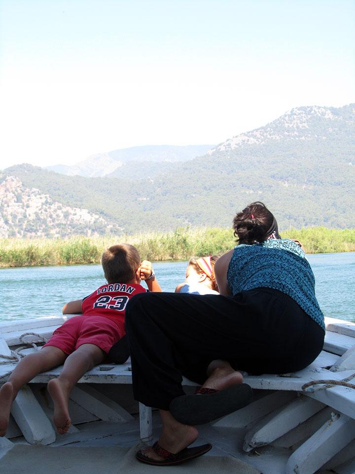 Paseo en barco hasta la playa de Iztuzu en Dalyan, Turquía