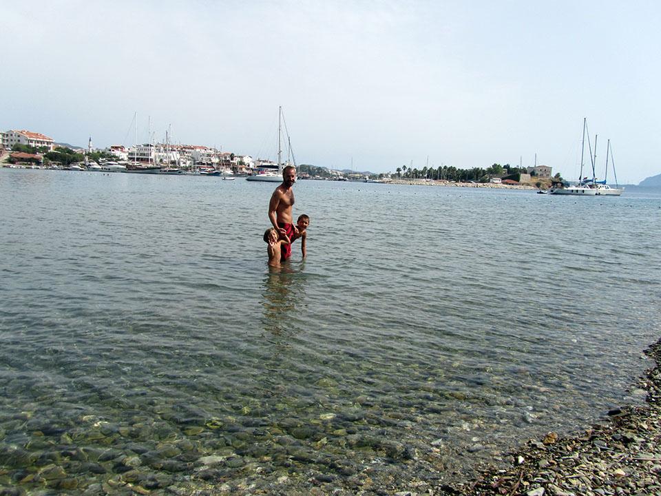 Playa de Datca en Turquía