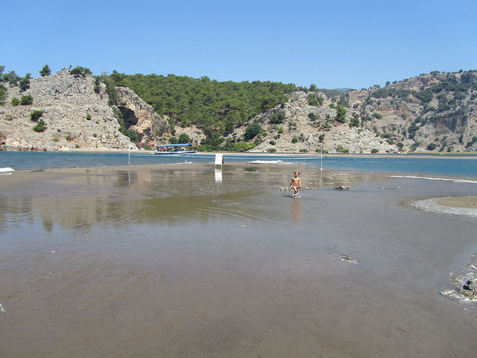 Playa de Iztuzu en Dalyan, Turquía