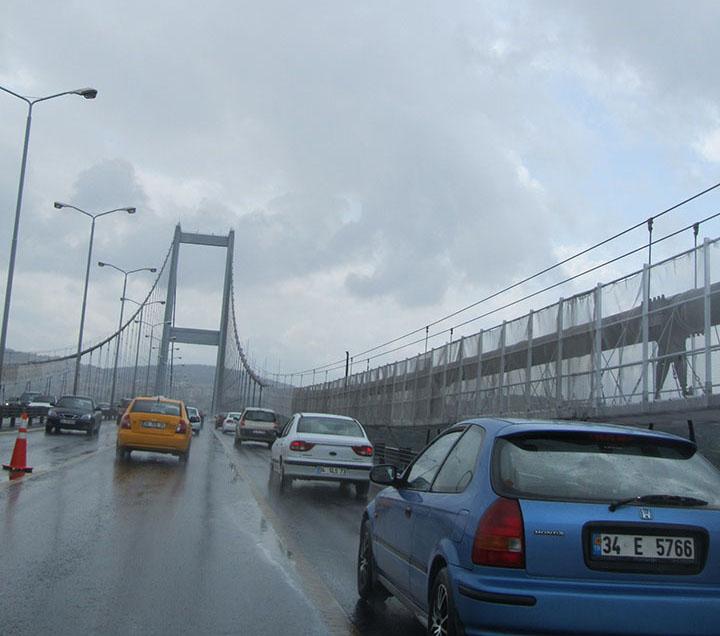 Saliendo de Estambul en Turquía.