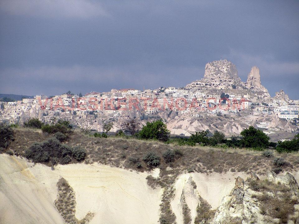 Uchisar en la Capadocia, Turquía