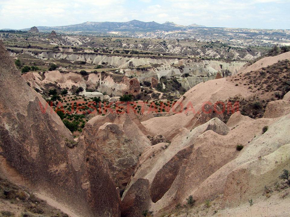 Valle de la Rosa y Valle Rojo en la Capadocia, Turquía