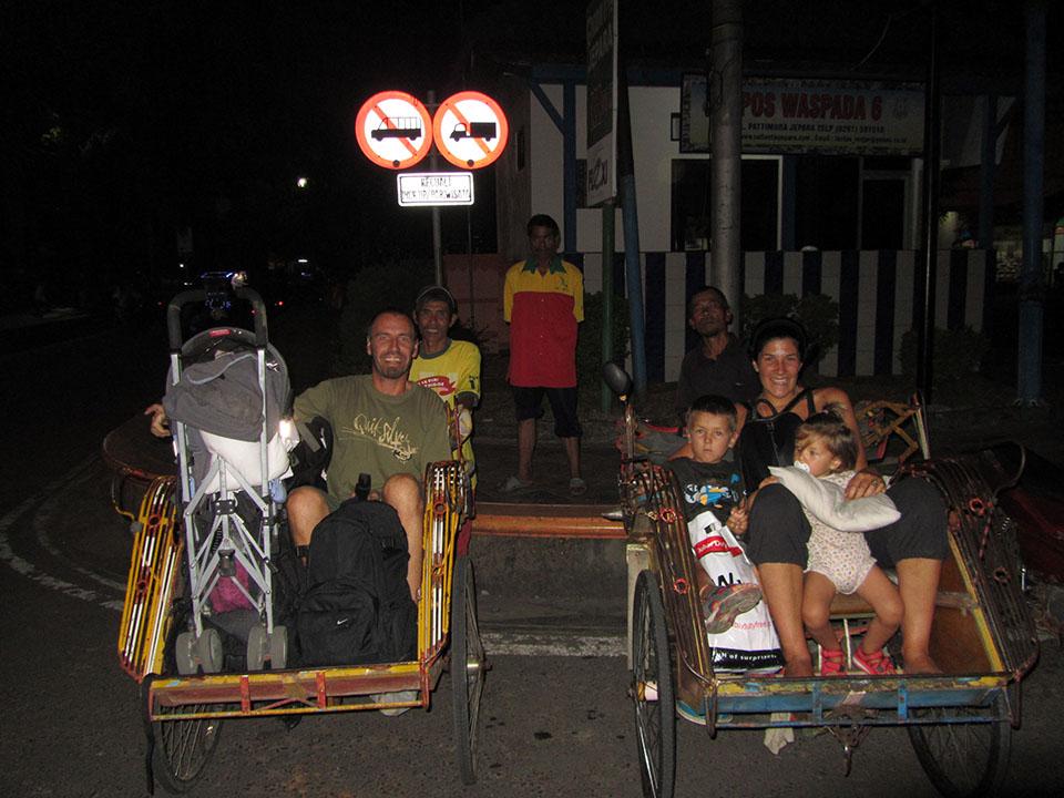 Bicicletas en Jepara, Indonesia
