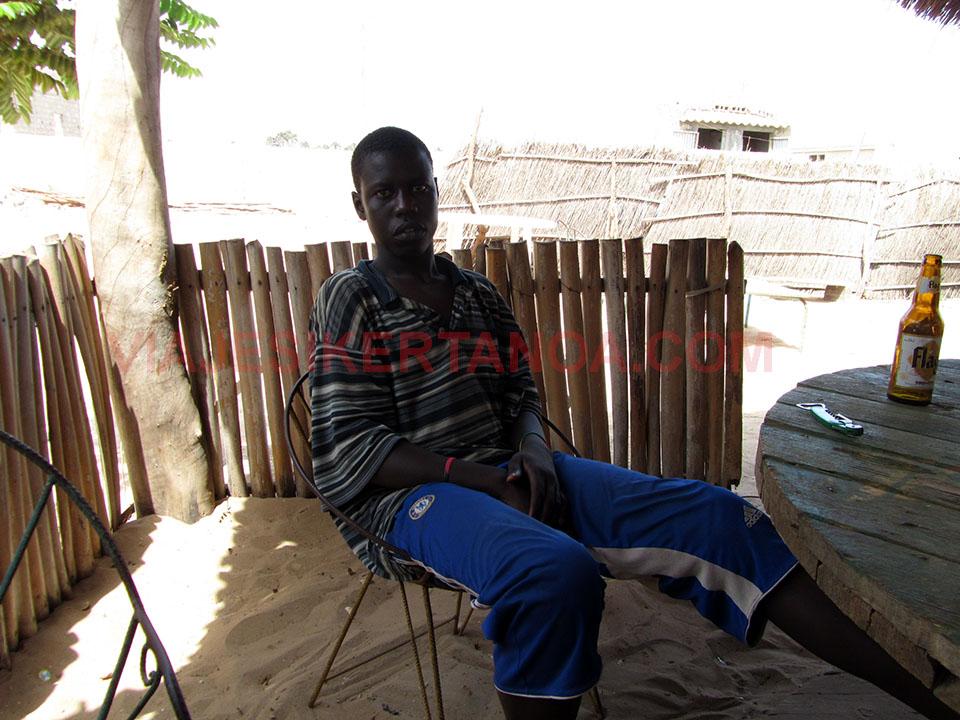 Bubba habitante de Palmarín en Senegal.