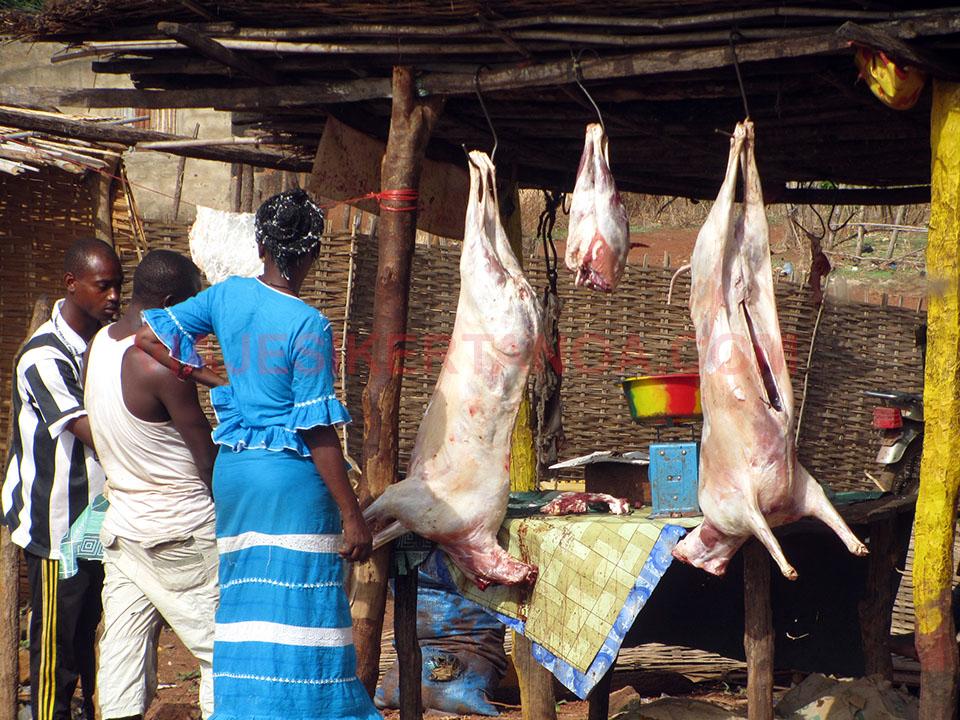 Carnicería de Kédougou en Senegal
