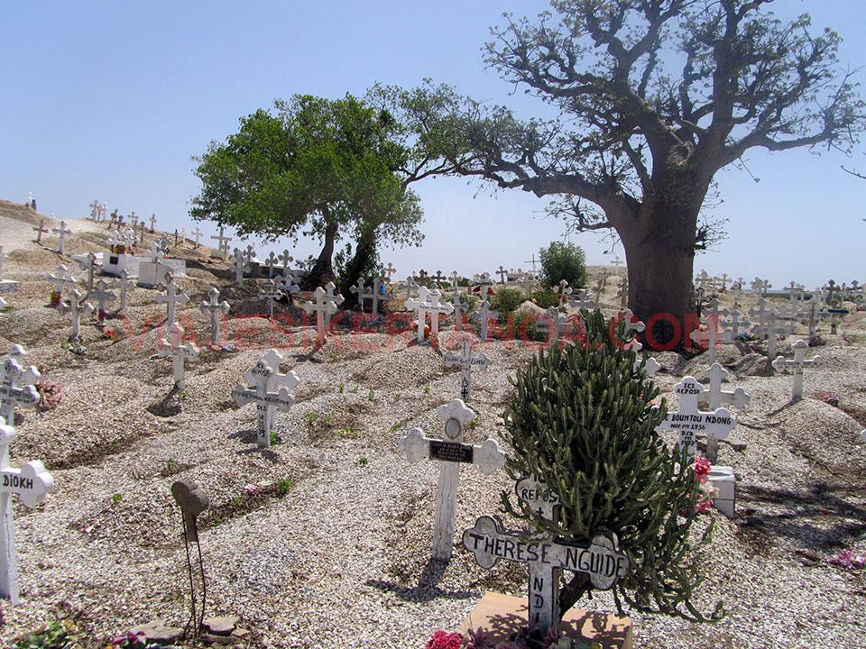 Cementerio cristiano en Joal - Fadiouth en Senegal