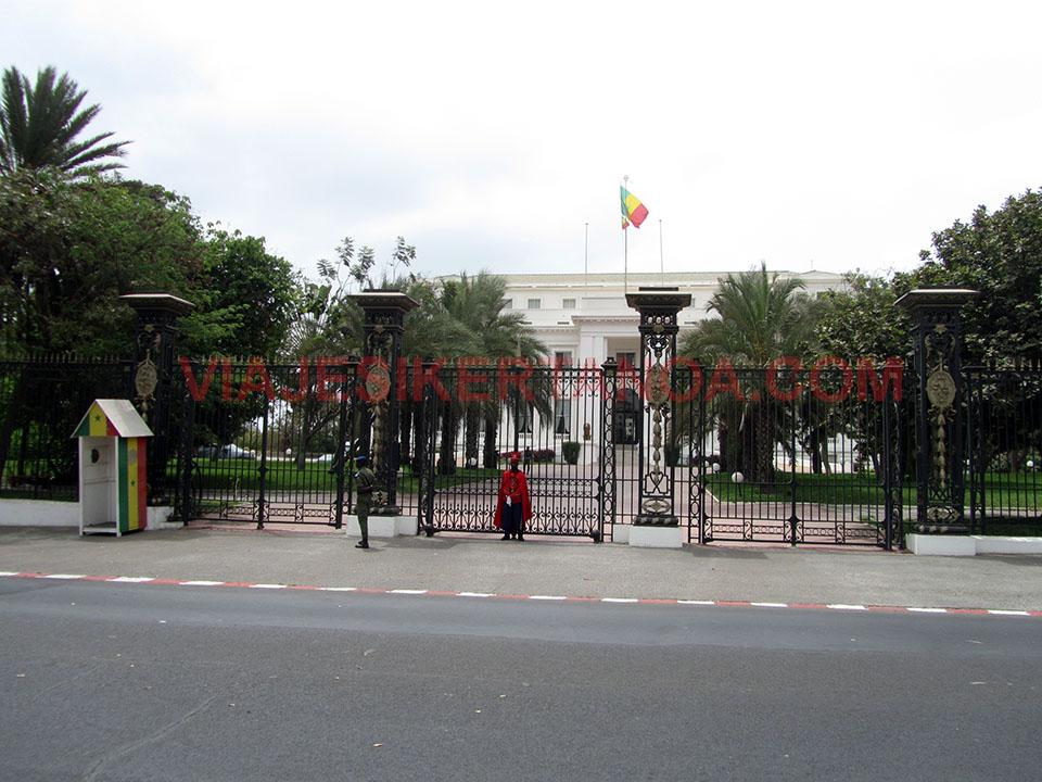 El Palacio presidencial en Dakar, Senegal
