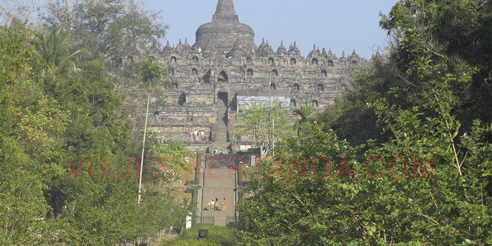 El Templo de Borobudur en Java, Indonesia