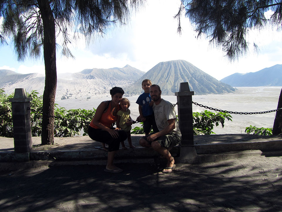 Gunung Bromo en Java, Indonesia