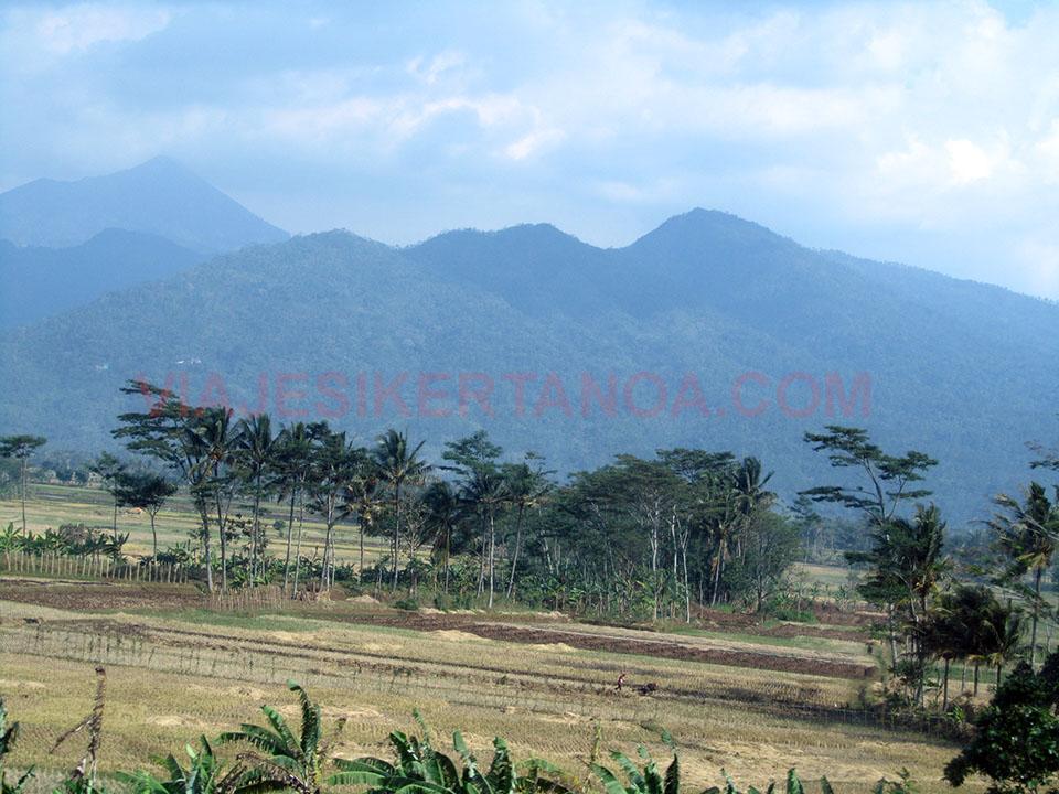 Paisajes camino de Semarang en Java, Indonesia