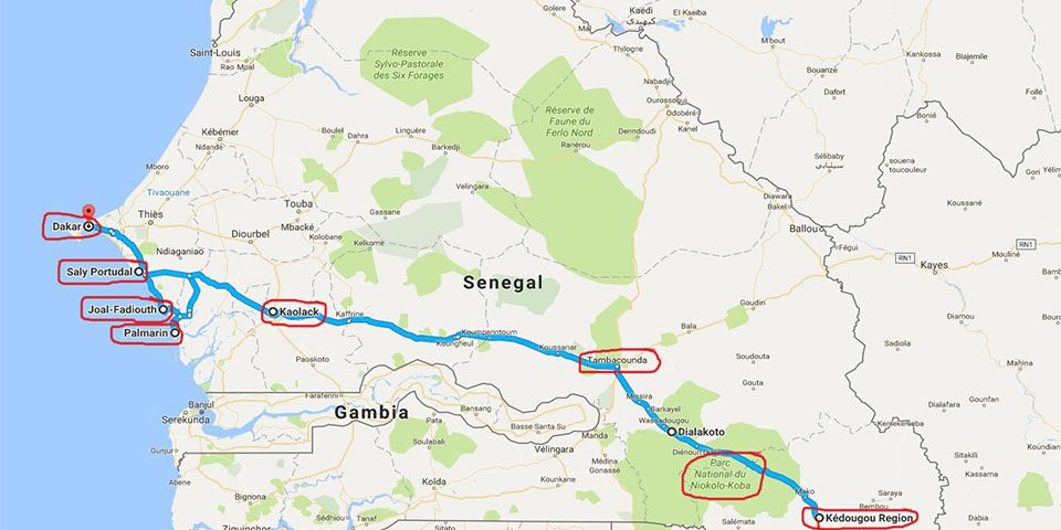 Ruta por Senegal.