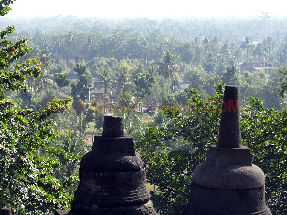 Templo de Borobudur en Java, Indonesia