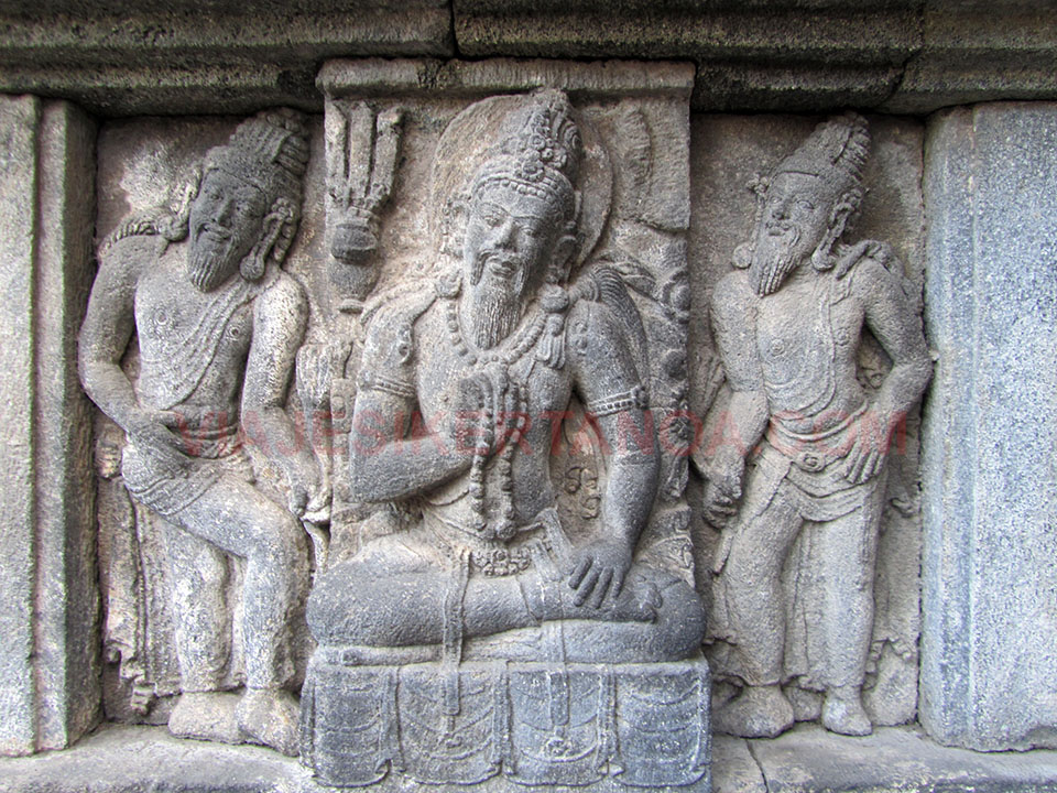 Templos de Prambanan en Yogyakarta, Indonesia
