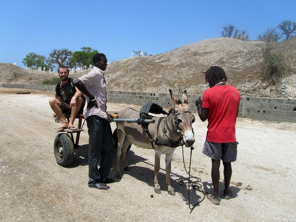 Transporte hasta el gran baobab sagrado en Joal - Fadiouth, Senegal