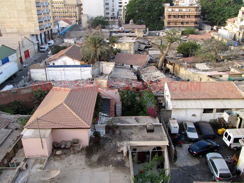 Vistas desde el hotel de Dakar en Senegal.
