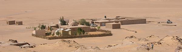 Vista de la casa del Instituto Francés de Arqueologia Oriental