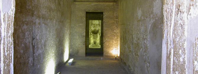 Viajes a Amarna con Viajes Ikertanoa. Amarna, Tumbas Norte, Detalle de la Tumba de Ahmes.