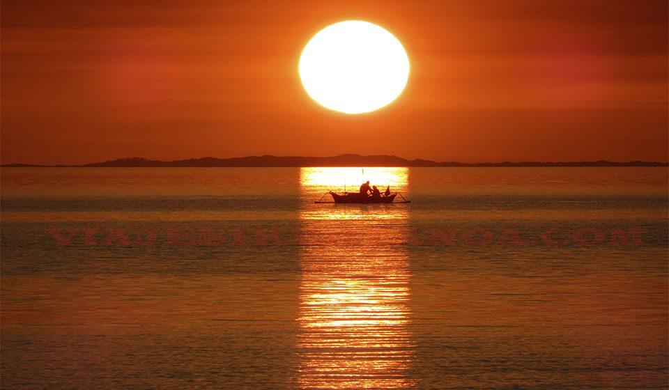 Donsol en la isla de Luzón en Filipinas