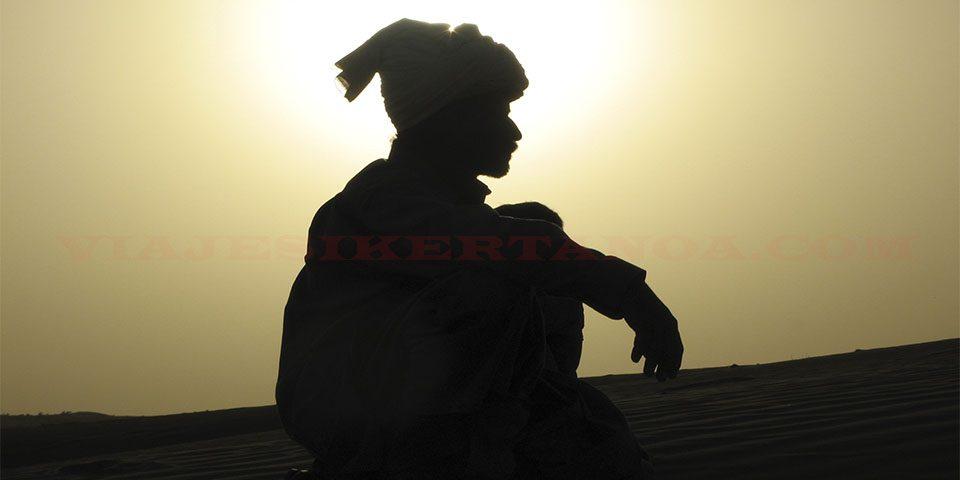 En el desierto del Thar en Jaisalmer, India