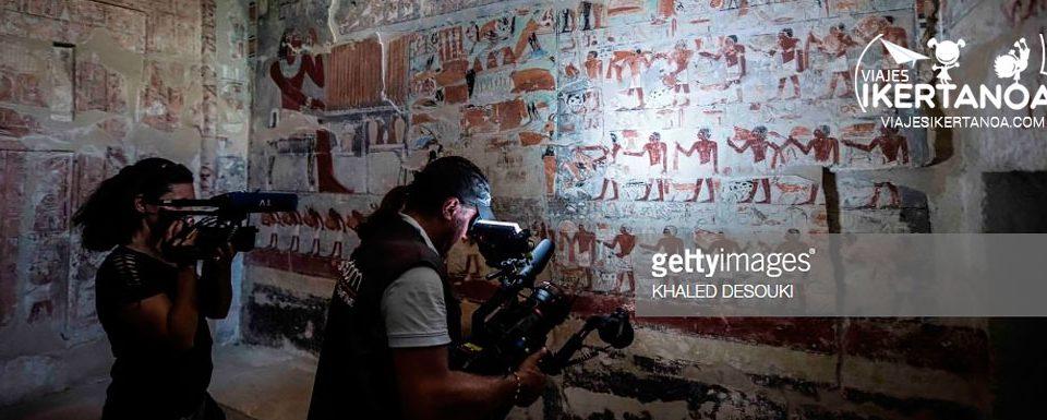 Abierta al público por primera vez la Tumba de Mehu en Saqqara a la que podrás entrar con los Viajes a Egipto de Viajes Ikertanoa.