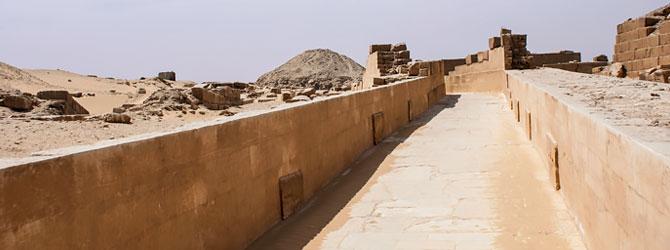 Calzada de la Pirámide de Unas, Saqqara, El Cairo. Viaje a Egipto con Viajes Ikertanoa.