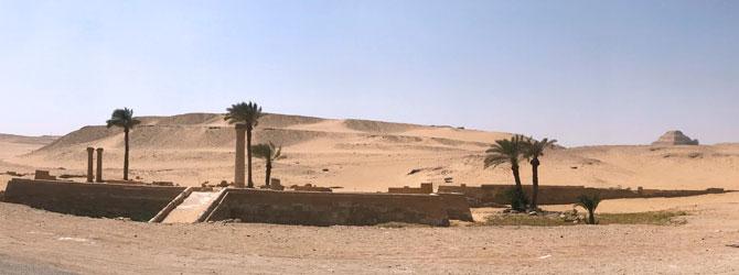 Templo del Valle de la Pirámide de Unas, Saqqara, El Cairo. Viaje a Egipto con Viajes Ikertanoa.