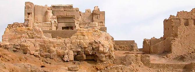 Vista del Templo de Amon en el Oasis de Siwa.