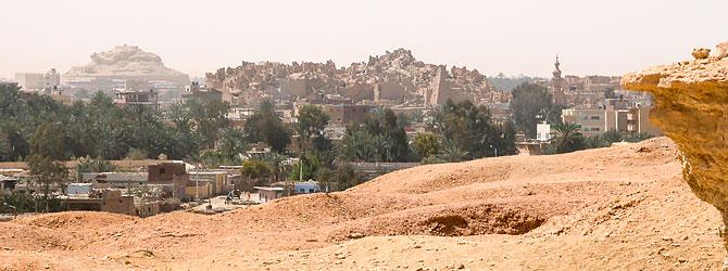 Vistas de Siwa desde Gebel al Mawta en el Oasis de Siwa.